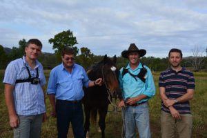 4D farms team from Melbourne and Queensland Universities with Peter Mahony.